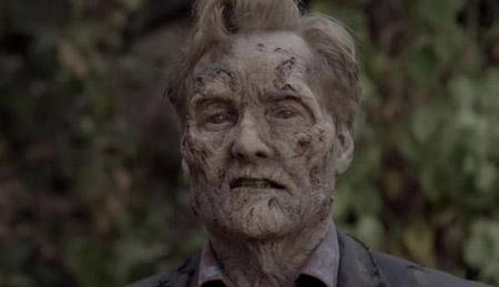 Conan O'Brien, o novo zumbi de The Walking Dead