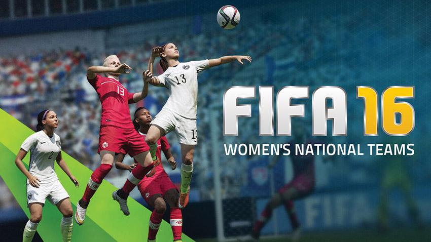O game FIFA 16, que vai oferecer aos jogadores a opção de jogar com times femininos.