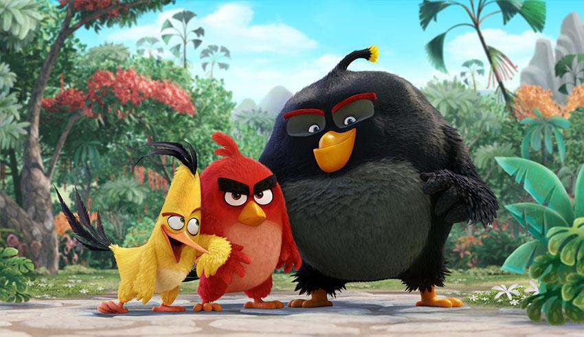 Chuck, Red e Bomba, os protagonistas de Angry Birds - O Filme.