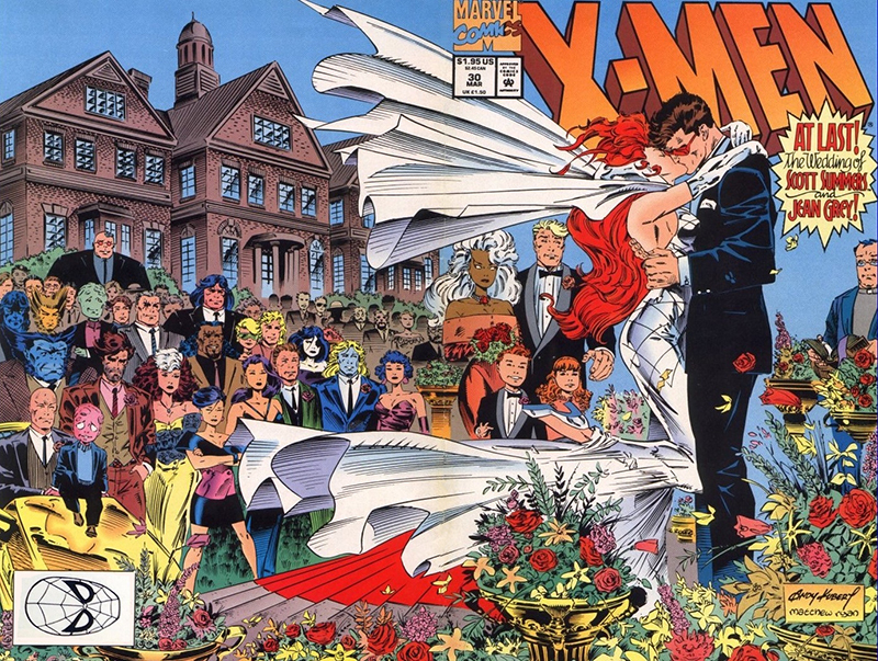 Casamento Scott Summers e Jean Grey.